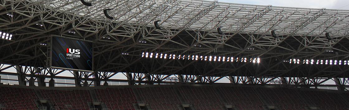 puskás stadionban az ivs sport studio